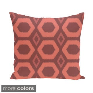 Bold Geometric Honeycomb 16-inch Decorative Pillow