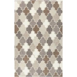 Hand-Tufted Randall Geometric Pattern Wool Rug (9' x 13')