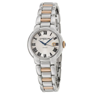 Raymond Weil Women's 'Jasmine' Stainless Steel and Rose Goldplated PVD Coated Swiss Mechanical Automatic Watch