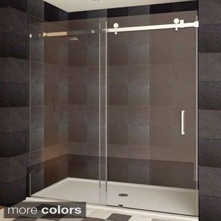 LessCare Teempered Glass Semi-frameless Shower Door