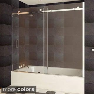 LessCare Tempered Glass Semi-frameless Bathtub Door