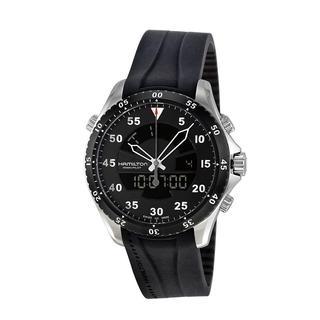 Hamilton Men's H64554331 Flight Timer Black Watch