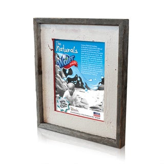 Natural Crackled Poinsettia Red Recycled/ Reclaimed Wood 8-inch x 10-inch Picture Frame