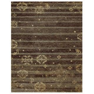 "Grand Bazaar Hand-knotted Wool & Art Silk Qing Rug in Soil 8'-6"" x 11'-6"""