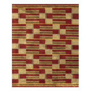 "Grand Bazaar Hand-knotted Wool & Art Silk Keystone Rug in Gold 8'-6"" x 11'-6"""