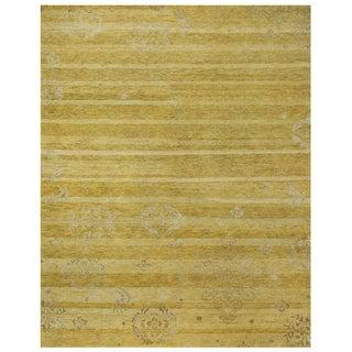 Feizy Qing Yellow Geometric Area Rug (8'6 x 11'6)