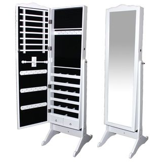 Essential White Wooden Jewlery Display Cabinet/ Mirror