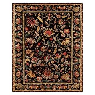 Grand Bazaar Tufted 100-percent Wool Pile Natasha Rug in Black/Black 7' X 9'