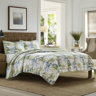 Laura Ashley Peony Garden Apricot Reversible Cotton Quilt Set