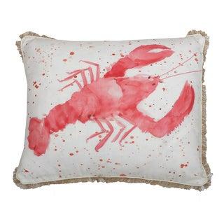 Lorenzo Lobster Throw Pillow