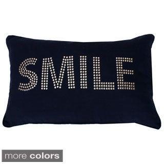 Cindy Smile Studded Throw Pillow