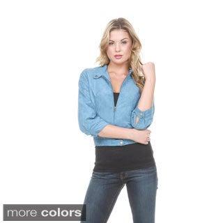 Stanzino Women's Suede Look Slim Jacket