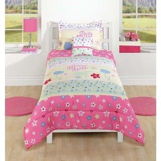 Garden Floral Polyester Comforter Set
