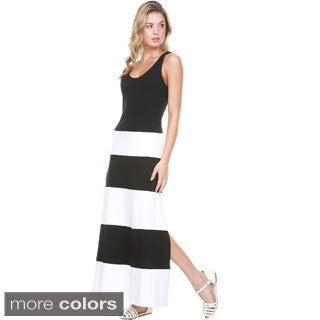 Stanzino Women's Colorblock Sleeveless Maxi Dress