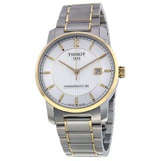 Tissot Men's T0874075503700 'T-Classic' Automatic Two tone Titanium Watch