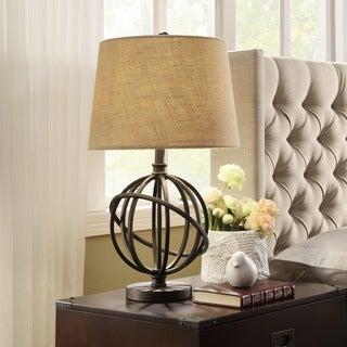 INSPIRE Q Antique Bronze Metal Orbit Globe 1-light Accent Table Lamp