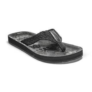 Muk Luks Men's Silas Black Flip Flops