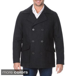 Halifax Men's Double Breasted Peacoat