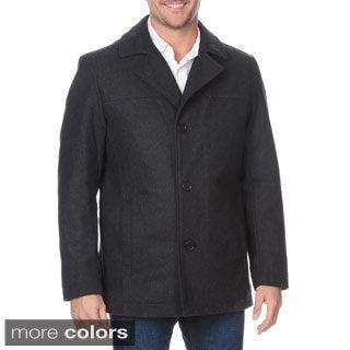 Halifax Men's Single Breasted Wool-blend Coat