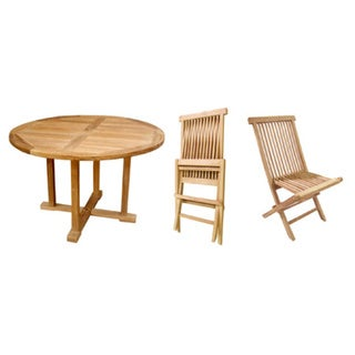 teak table and chairs set