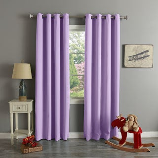 Lights Out Grommet Top Thermal Insulated Blackout Curtain Panel Pair