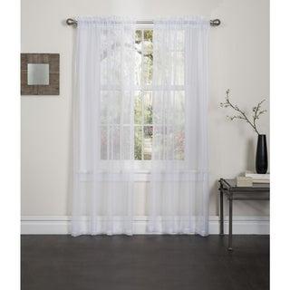 Lisa 84-inch Rod Pocket Sheer Curtain Panel Pair
