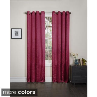 Madeline Crushed Satin 90-inch Curtain Panel Pair