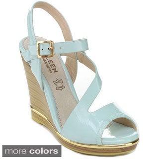 Kayleen Women's 'Evina-4' Ankle Strap Platform Wedges