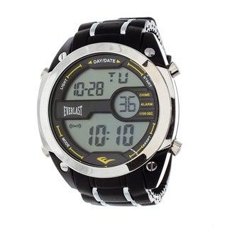 Everlast Diver Jumbo Men's Digital Black Rubber Strap Watch