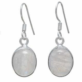 Hand-crafted Sterling Silver Rainbow Moonstone Earrings (India)