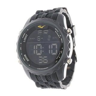 Everlast Jumbo Men's Digital Sport LED Grey Silicone Strap Watch