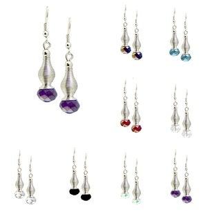 Bleek2Sheek Silvertone Lantern Cosmo Dangle Earrings