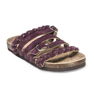 Muk Luks Women's 'Mary' Deep Purple Strappy Sandals
