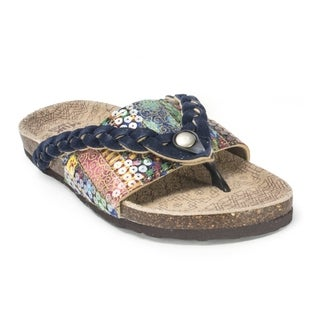Muk Luks Women's 'Ann' Navy Braided Sandals