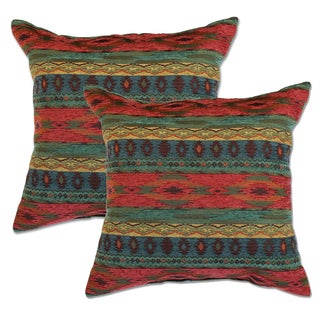 Phoenix SunSet 22-inch Decorative Throw Pillows (Set of 2)