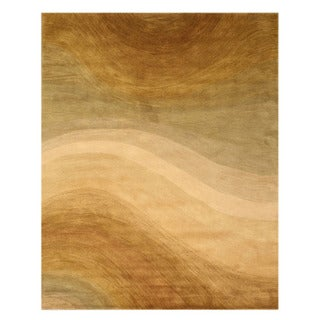 Hand-tufted EORC Gold Wool Rug (4' x 6')