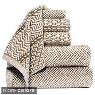 Vendome Yarn Dyed 100-percent Cotton Jacquard 6-piece Towel Set