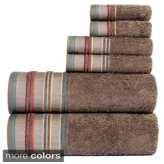 YvesYarn Dyed 100-percent Cotton Jacquard 6-piece Towel Set
