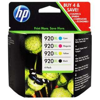 HP 920XL Four Pack Black, Cyan, Magenta and Yellow Ink Cartridges (Pack of 4)