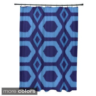 Geometric Tribal Pattern Shower Curtain