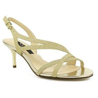 Celeste Nina Women's Circe-VG Strappy Glitter Dress Sandal with Chrome Heel