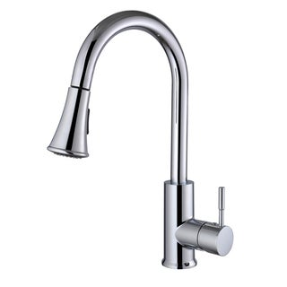 Century Home Living Solid Brass Single-lever Pull-out Sprayer Kitchen Faucet
