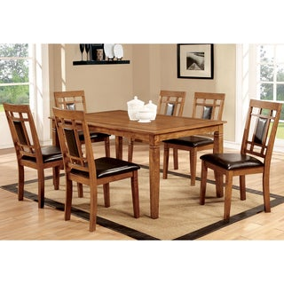 Furniture of America Bennett 5-Piece Light Oak Dining Set