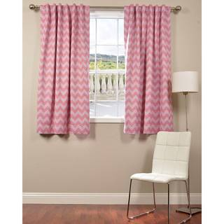 Pink Chevron Blackout 63-inch Curtain