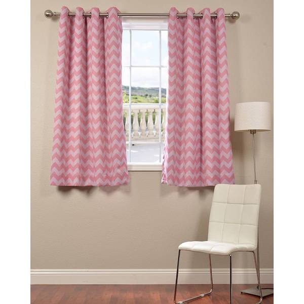 chevron blackout panel curtains