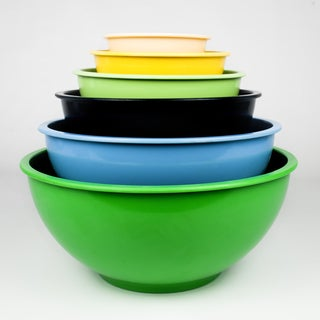 Cool Colors Nested Melamine Mixing Bowl 6-piece Set