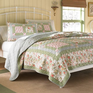 Laura Ashley Abbot Patchwork Quilt with Optional Sham Separates