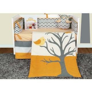 Snuggleberry Baby Nightie Night Owl 6-piece Crib Beddng Set with Storybook