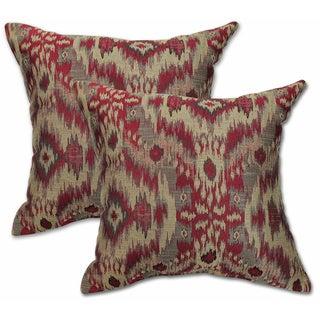 Big Tree Furniture Sumatra Brick 22-inch Decorative Throw Pillow (Set of 2)