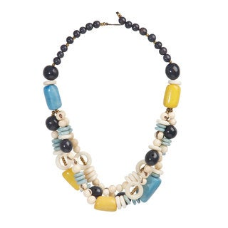 Faire Collection Miranda Seed and Tagua Necklace in Ivory (Ecuador)